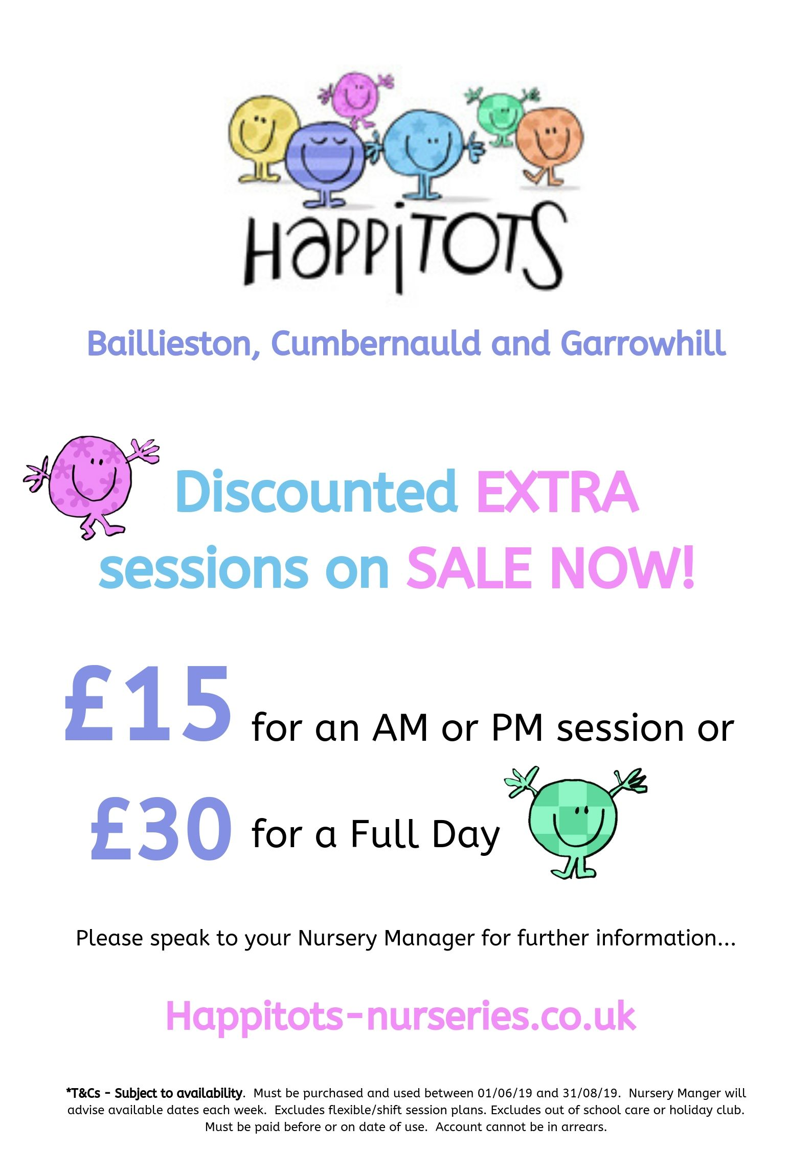 Discounted sessions at happitots nursery baillieston